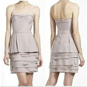 BCBGMaxazria Annika pumice strapless dress
